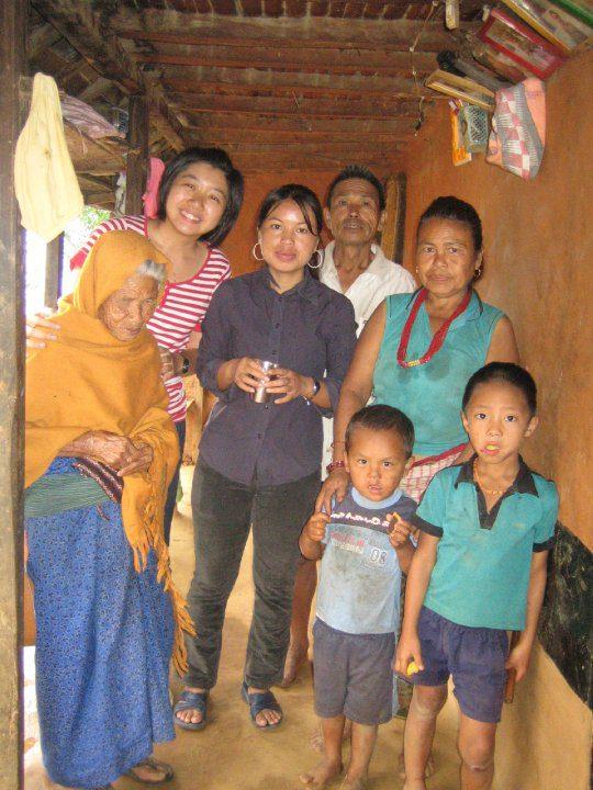 Tracy and Nepali grandmother