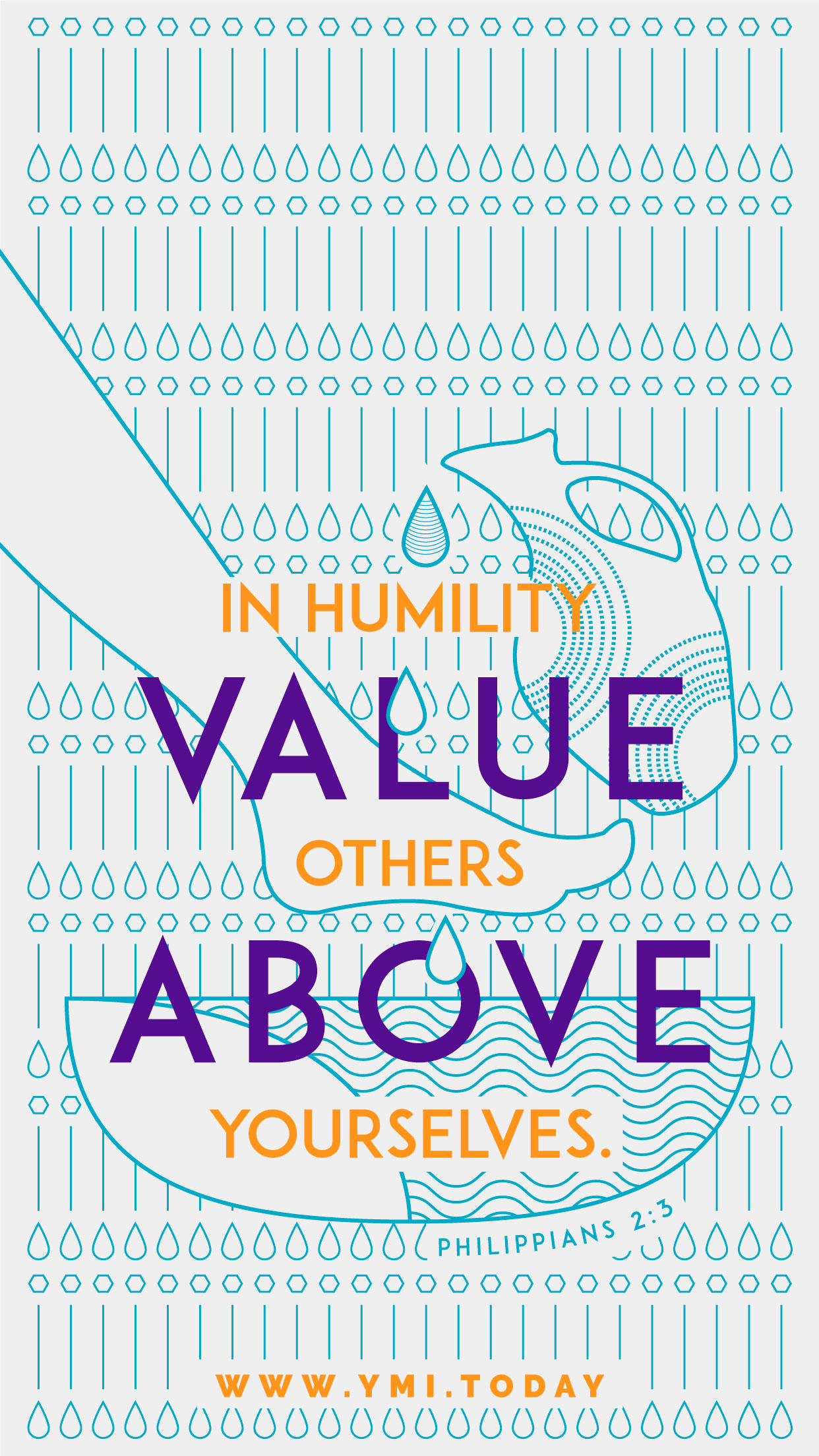 YMI March 2016 Phone Lockscreen - In humility, value others above yourselves. - Philippians 2:3