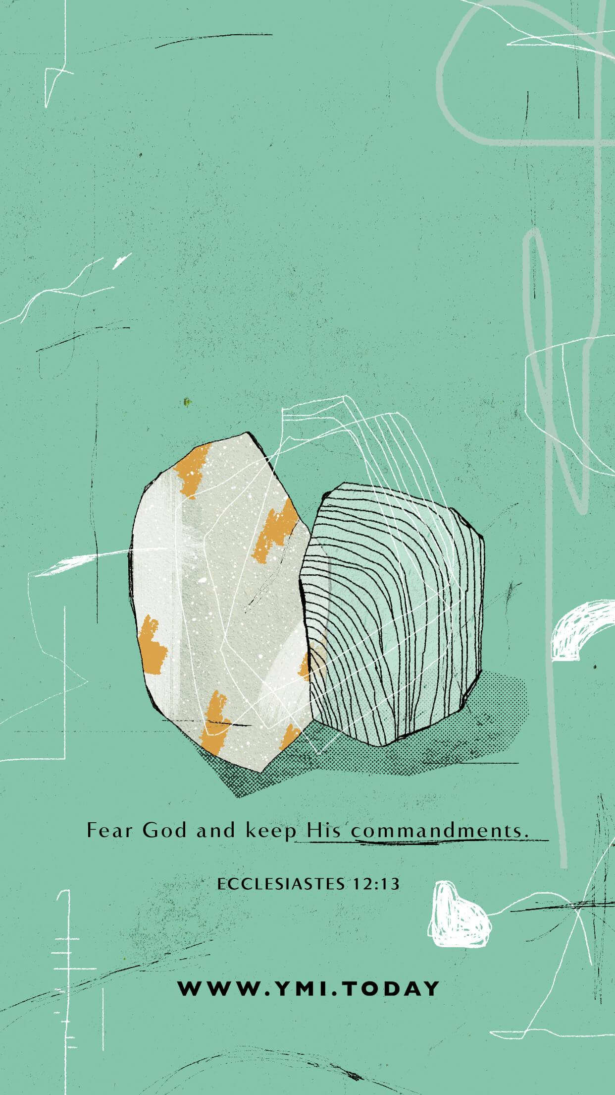 YMI Reading Ecclesiastes Phone Lockscreen - Fear God and keep His commandments. - Ecclesiastes 12:13