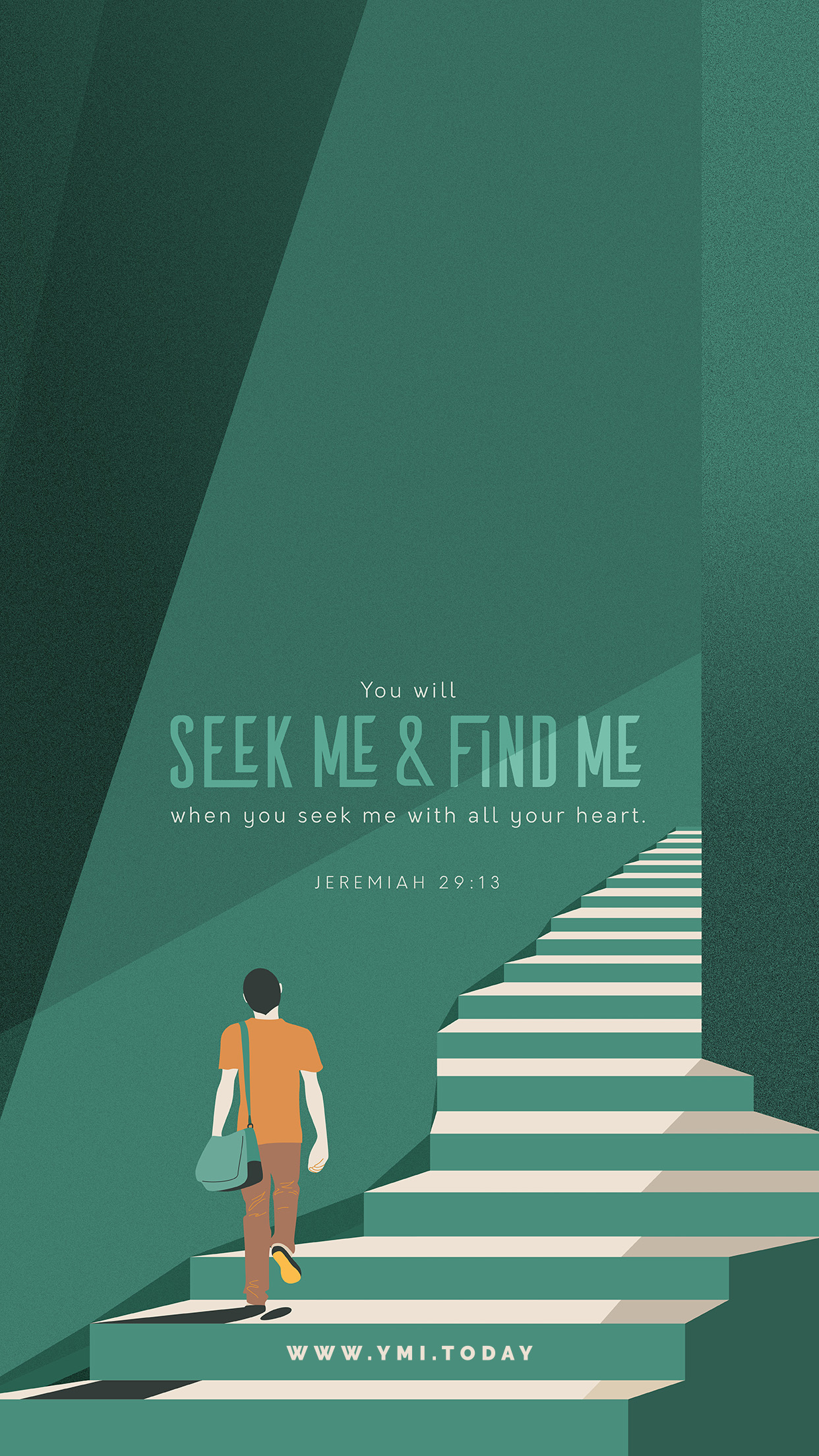 YMI March 2019 Phone Lockscreen - You will seek Me and find Me when you seek Me with all your heart. - Jeremiah 29:13