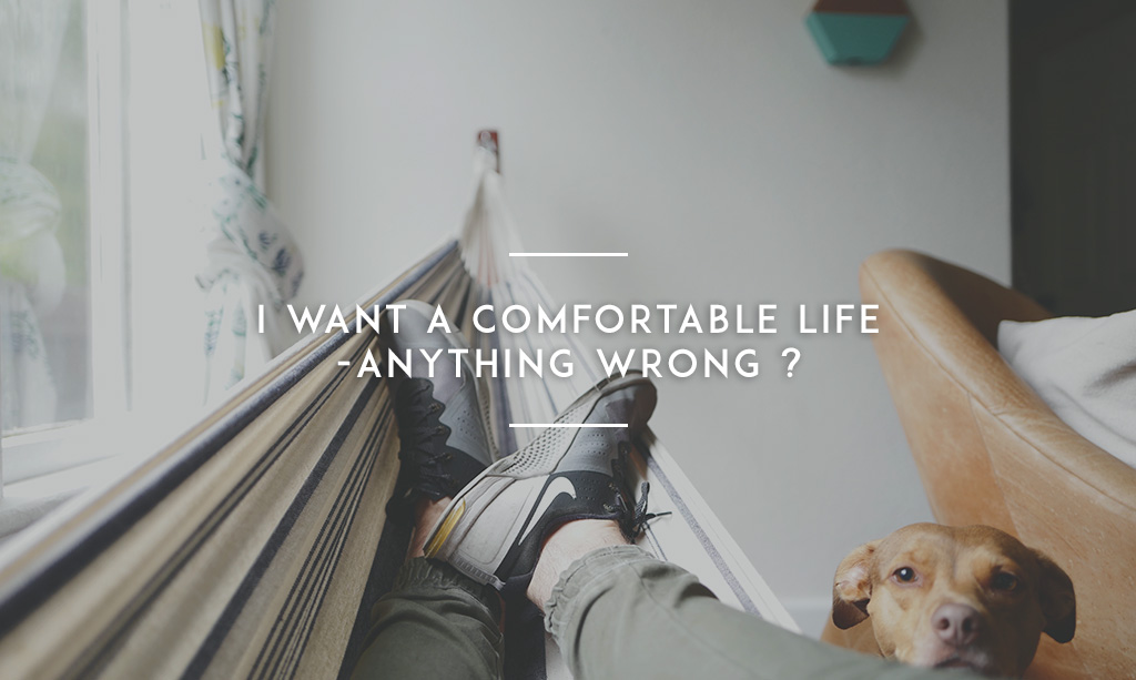 I Want A Comfortable Lifeu2014Anything Wrong?
