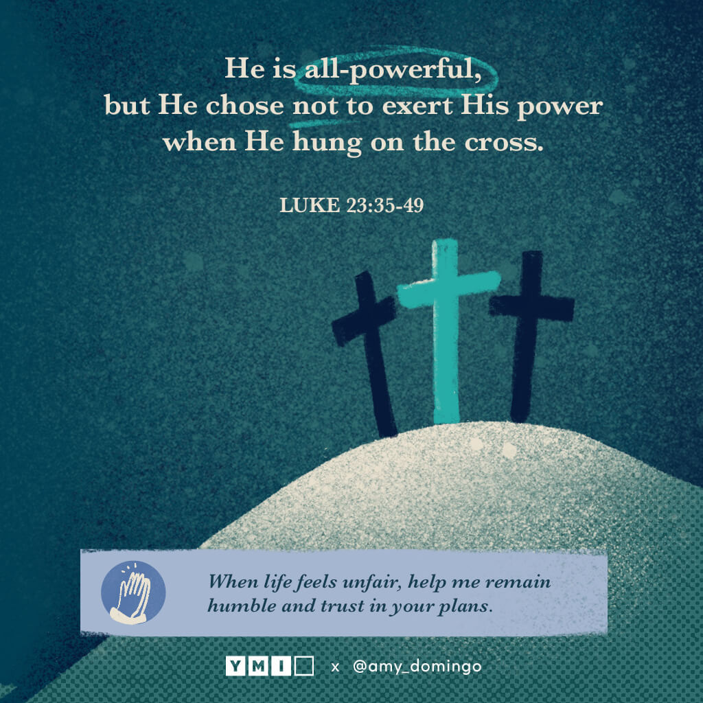 3 crosses at calvary He is all-powerful, but He chose not to exert His power when He hung on the cross