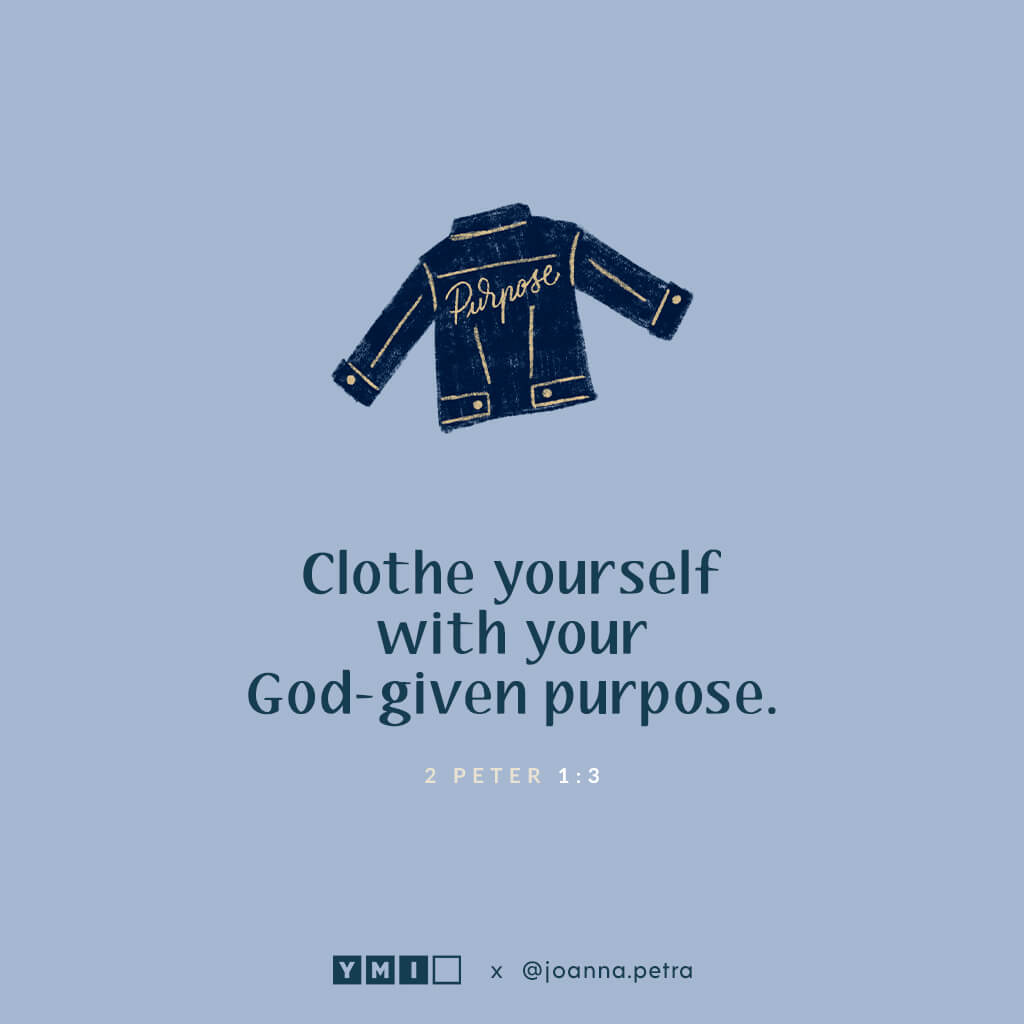 Denim jacket with quote cloth yourself with your God-give purpose