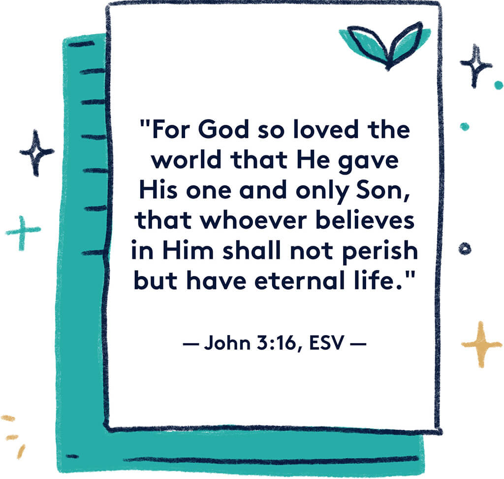 Relationship Goals Images- John 3.16 verse on paper graphic