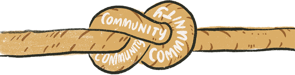 image of rope with text of community