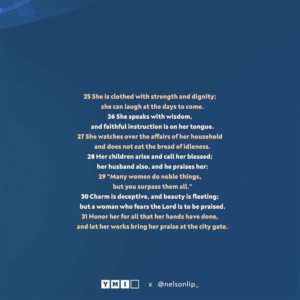 Proverbs 31:25-31