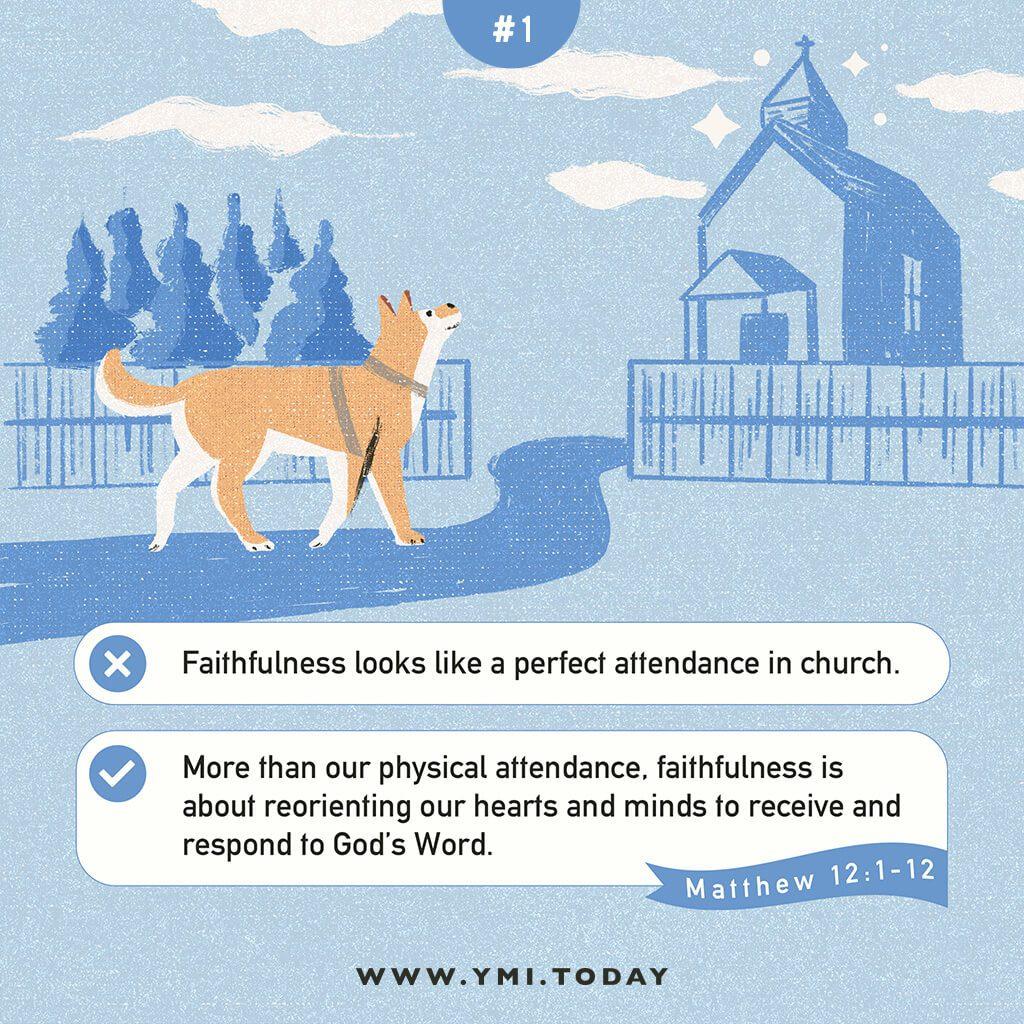 image of a shiba inu dog walking to a church