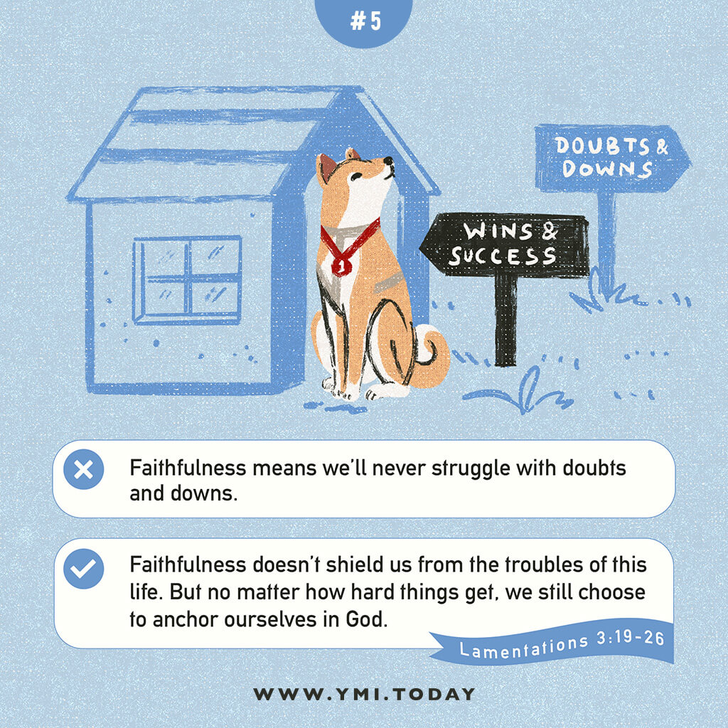 image of a shiba inu dog besides his house with a text of wins and success, doubts and downs
