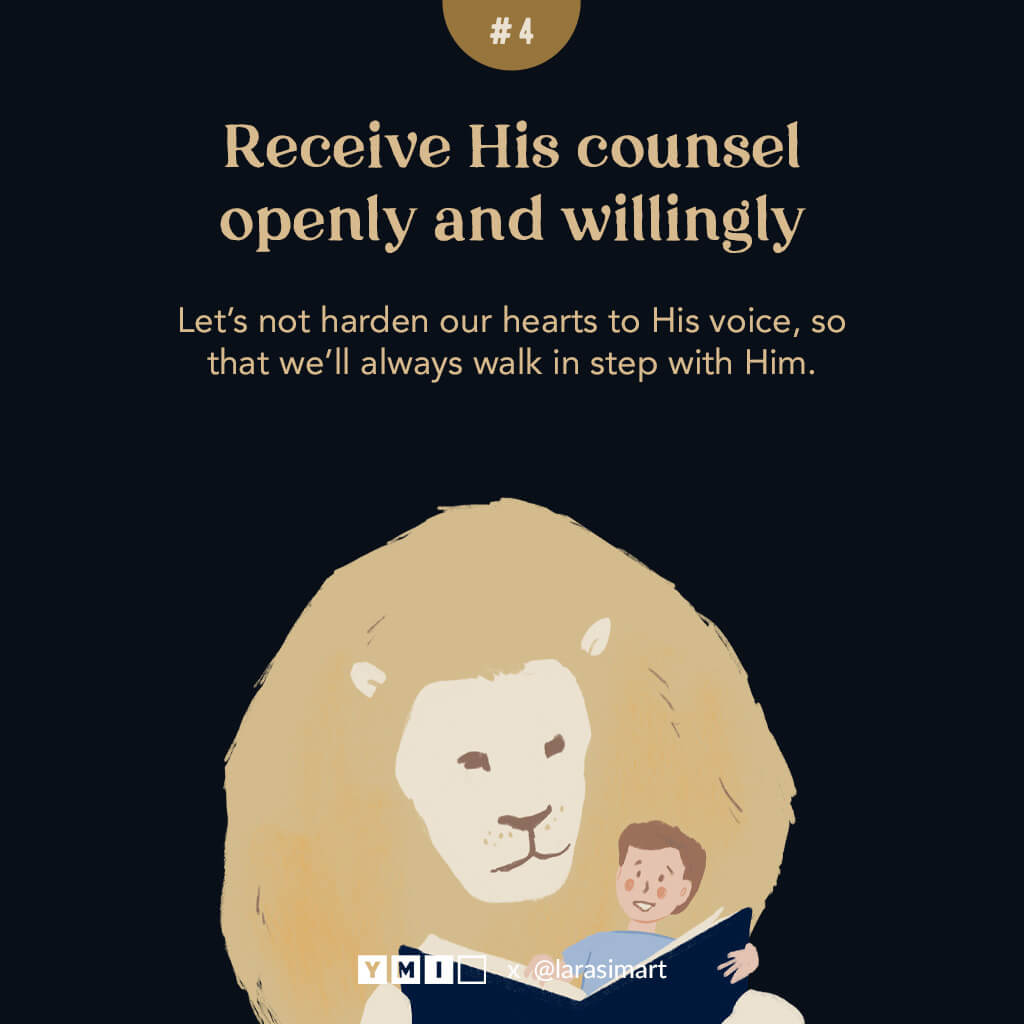 image of a boy and a lion read the bible together