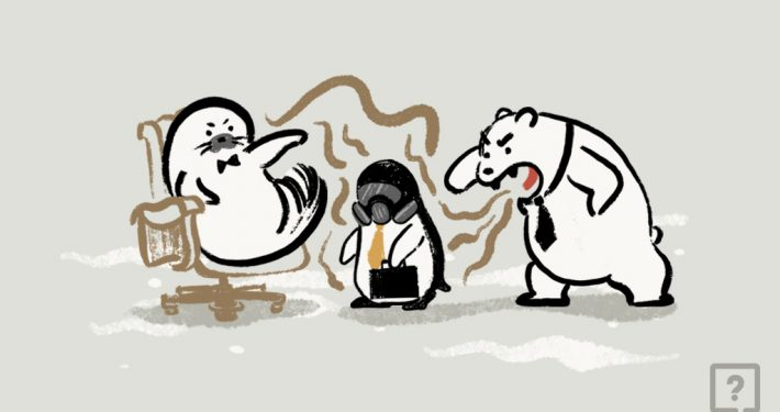 graphic image of a penguin, a sea lion, and a polar bear