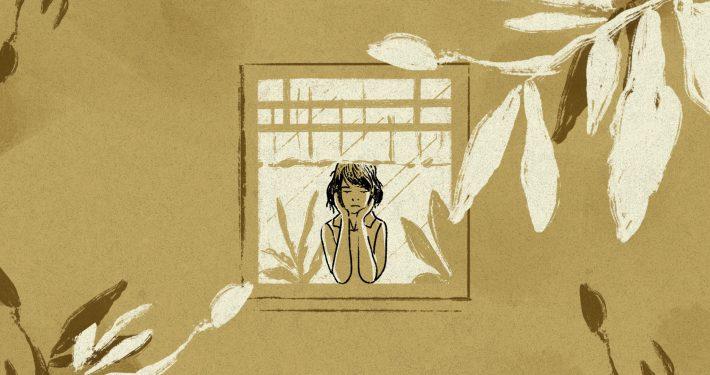 graphic image of someone sad