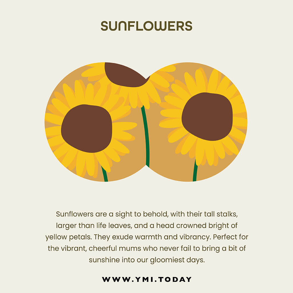 graphic image of sunflowers