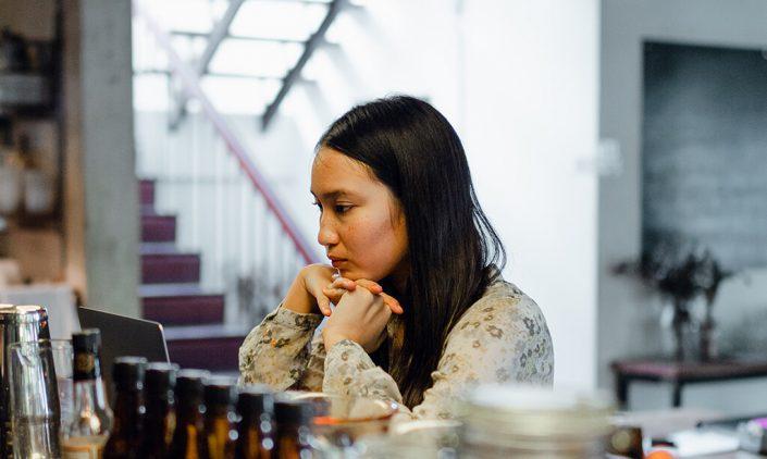 Image of lady looking sad