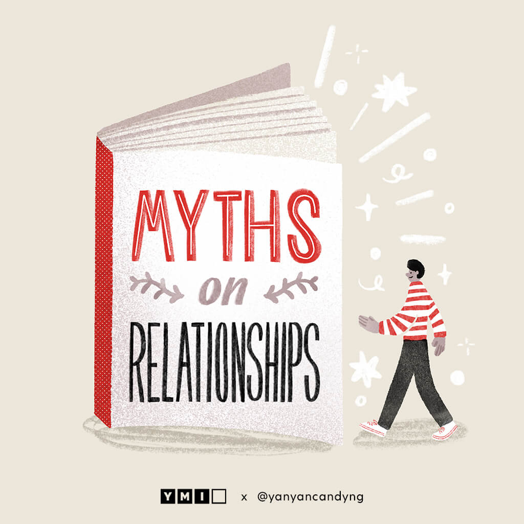 Image of a book on myths on relationships