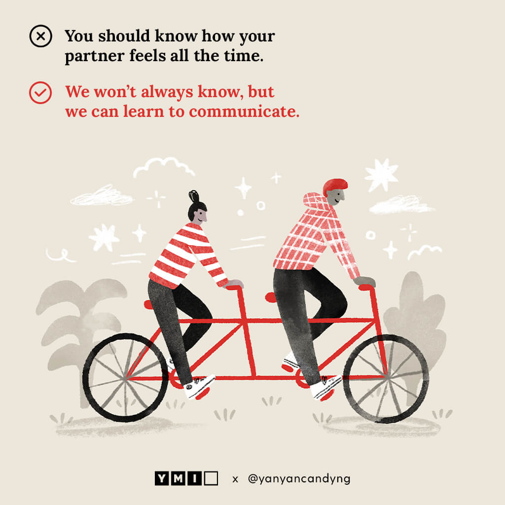 Image of a couple riding a tandem bike