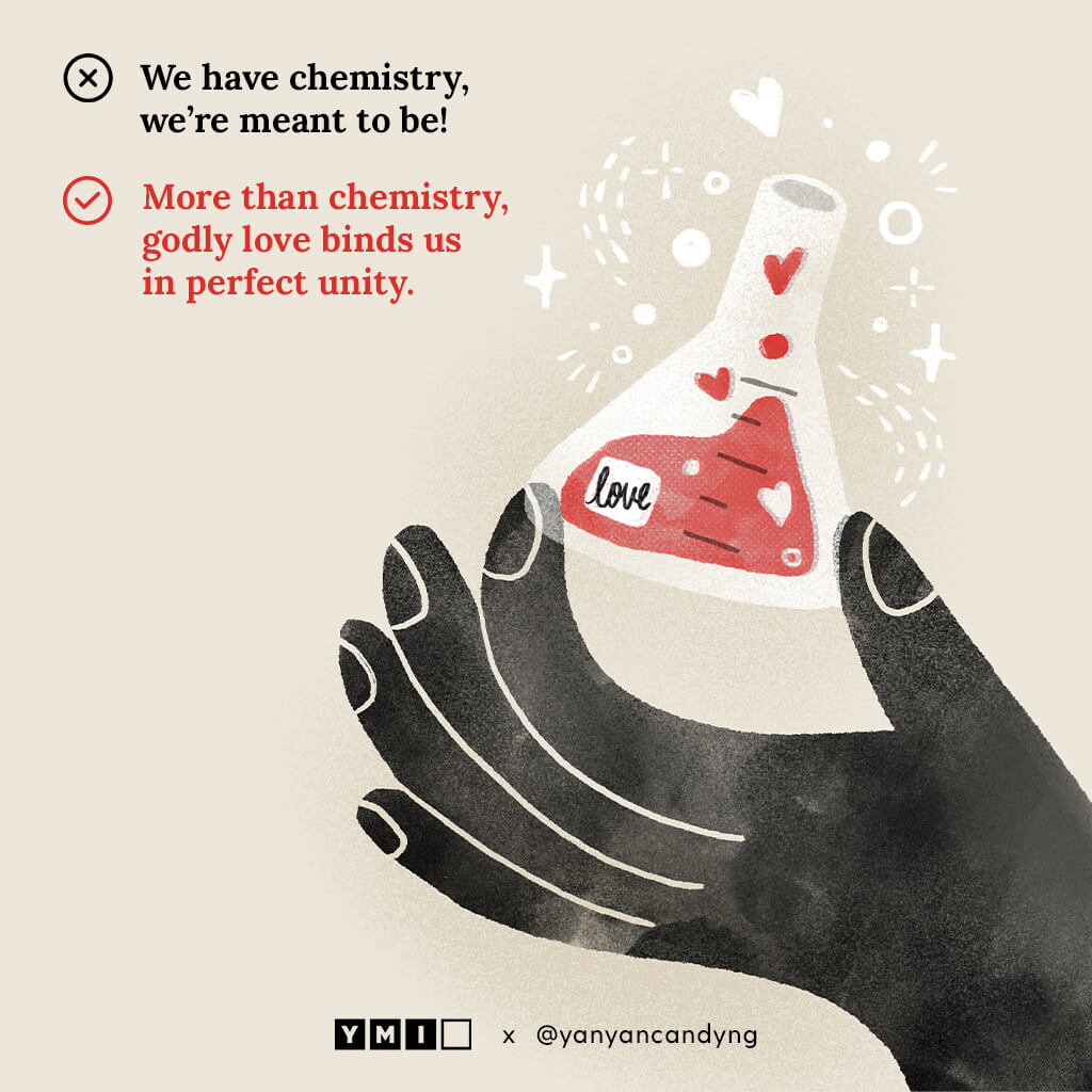 Image of a hand holding a love chemical beaker