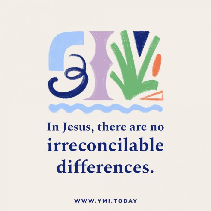 In Jesus, there are no irreconcilable differences