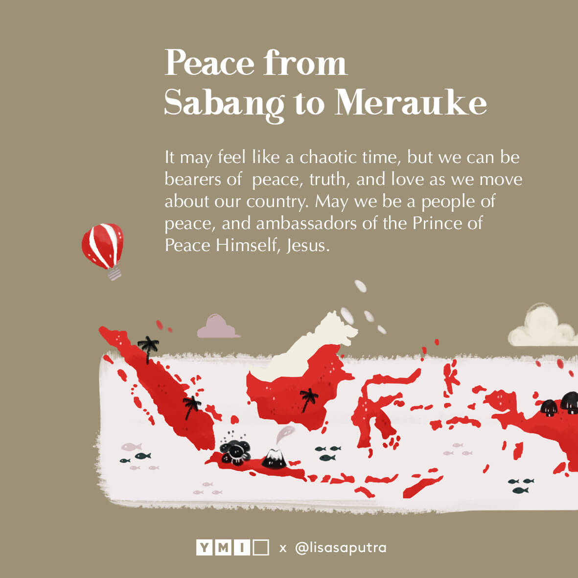 graphic image of Indonesia map