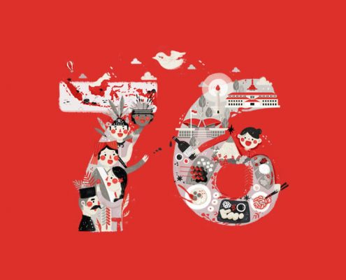 graphic image of 76th Indonesian Independence Day