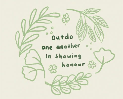Outdo one another in showing honour