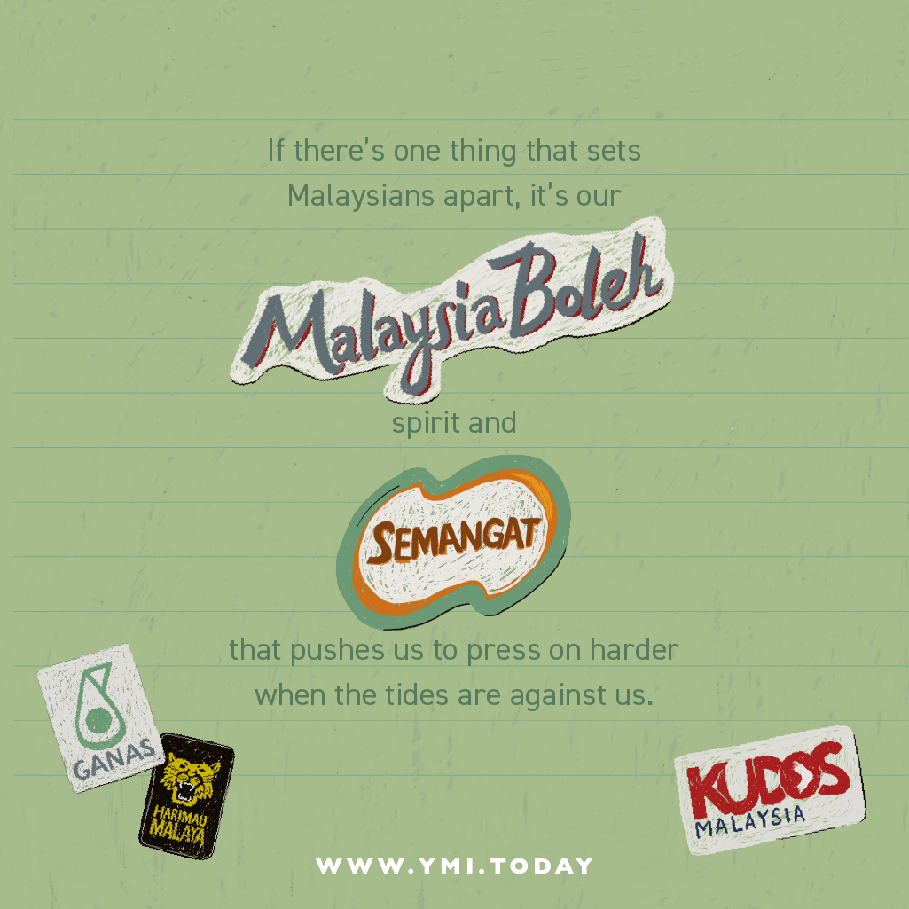Different stickers which familiar for Malaysians.