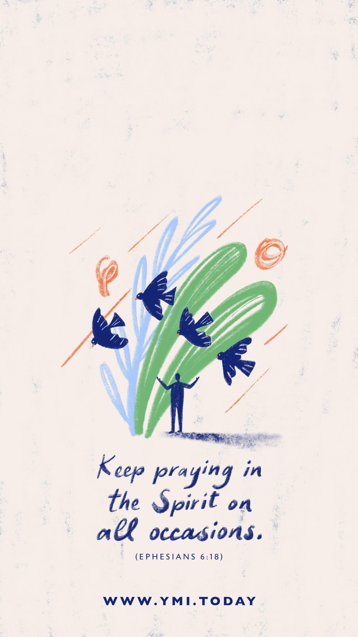 Keep praying in all situations Lockscreen
