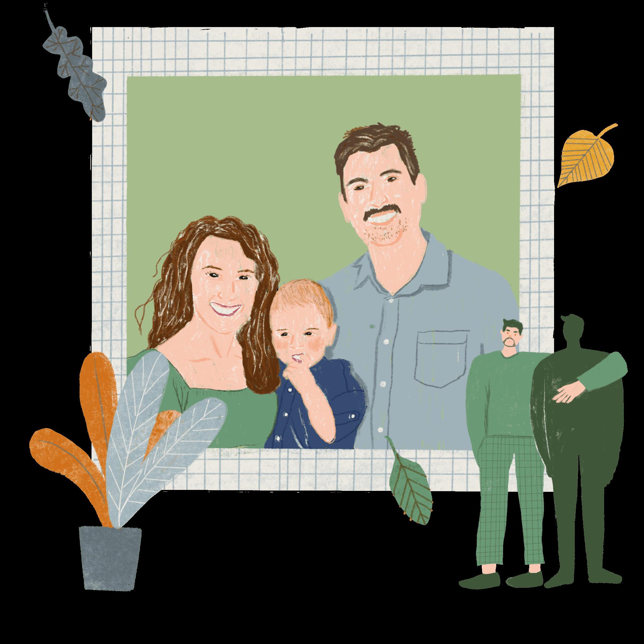 A family portrait of Pastor