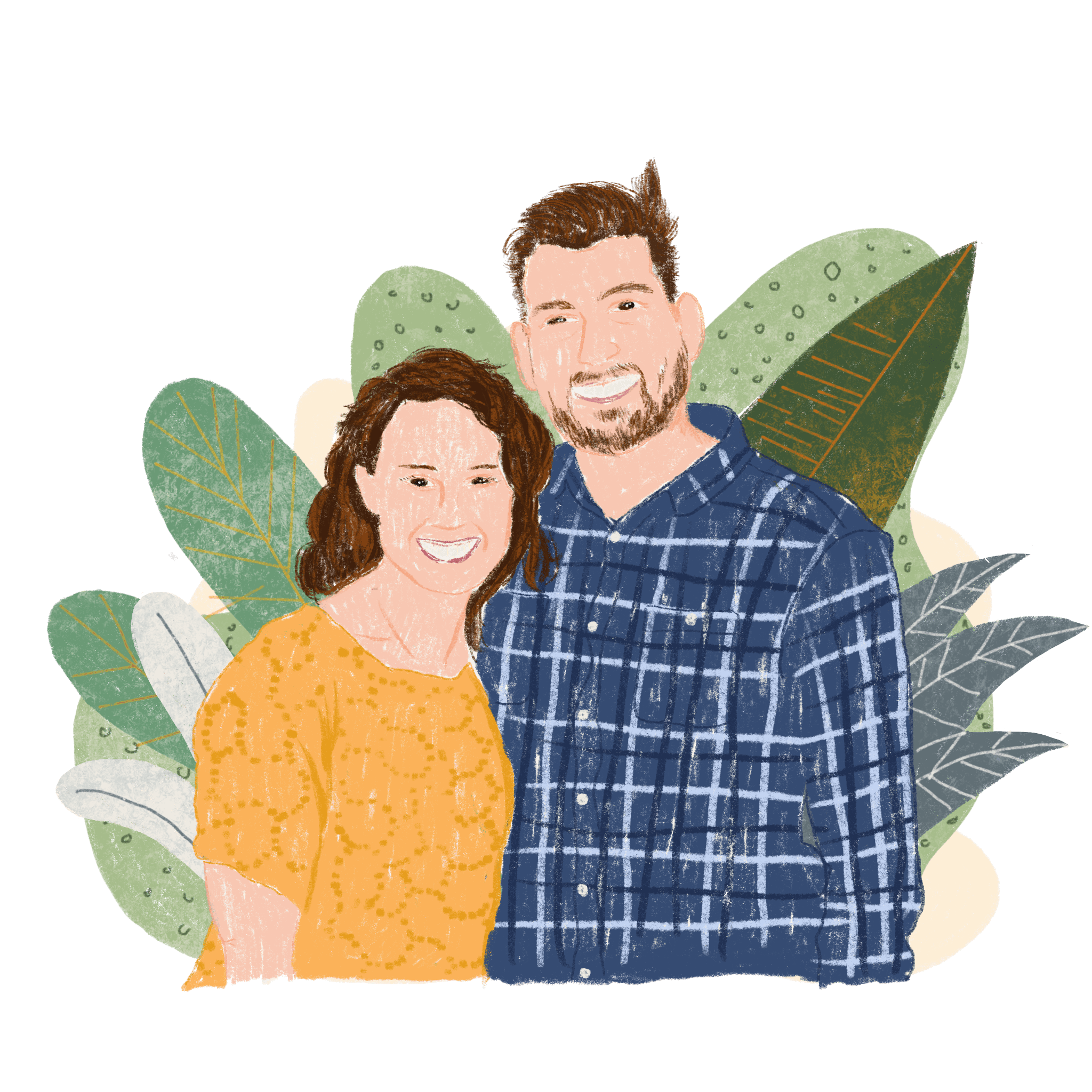 A portrait of Pastor and his wife