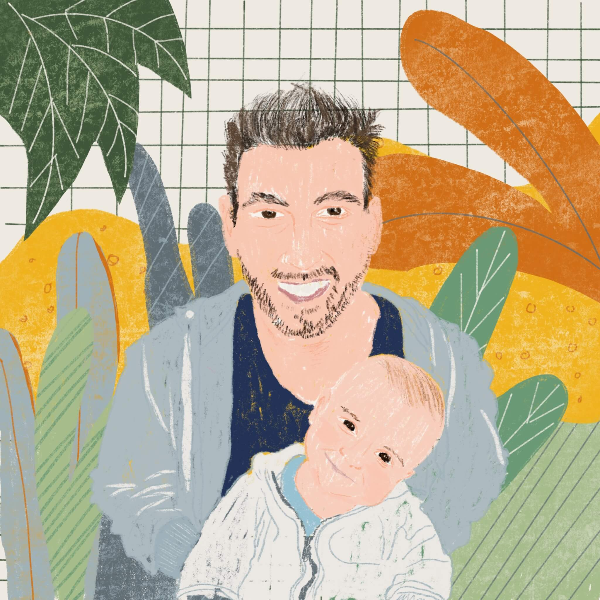 Portrait of Pastor carry a baby